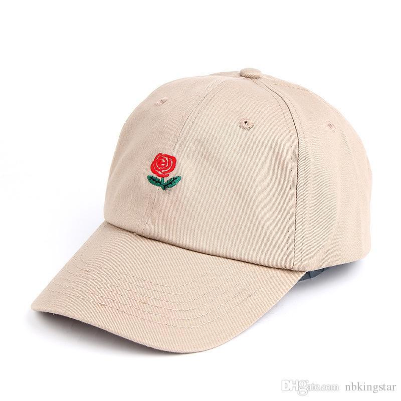 2017 Nouveau Unisexe Rose Emboridery Casquette De Baseball Casquette Snapback Chapeaux D'été Gorras Coton Hip Hop Caps Pour Hommes Et Femmes