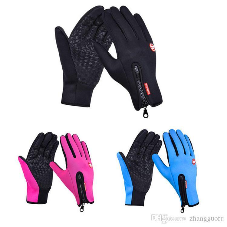 Touch Screen Winter Warm Cycling Bicycle Bike Ski Silica Waterproof Gloves