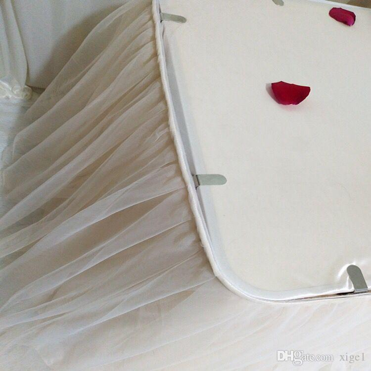 120 * 70 cm DIY Tulle Tutu Tisch Rock Tisch socking Baby Shower Geburtstag bankett Hochzeit Dekoration Heimtextilien weiß rosa