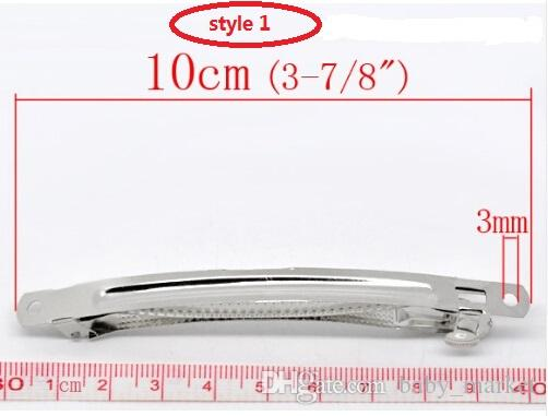 4 style available Doreen Beads hot french Clips pinch cock ,Spring clip Tone French Hair Barrette Clips