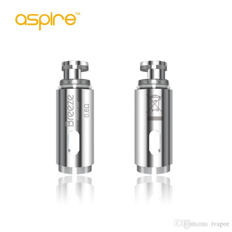 100% original Aspire Breeze Bobina Cabeza 0.6ohm 1.2ohm U-tech Reemplazo atomizador bobinas para Breeze Kit