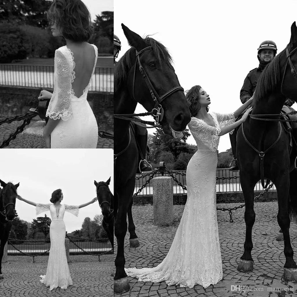 Liz Martinez 2019 Wedding Dresses: Vintage 2019 Liz Martinez Mermaid Wedding Dresses Backless