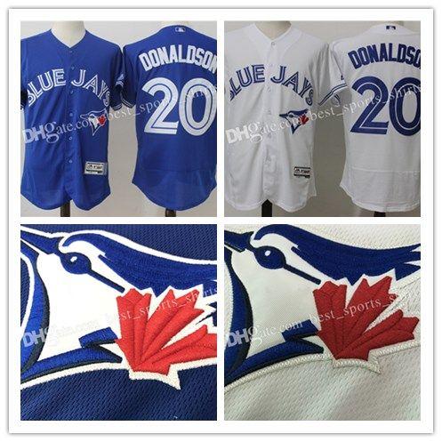 23ee38479 2019 Men S Toronto Blue Jays Josh Donaldson Baseball Jerseys Majestic  Alternate Bright Royal Flex Base Authentic Collection Player Jersey From ...
