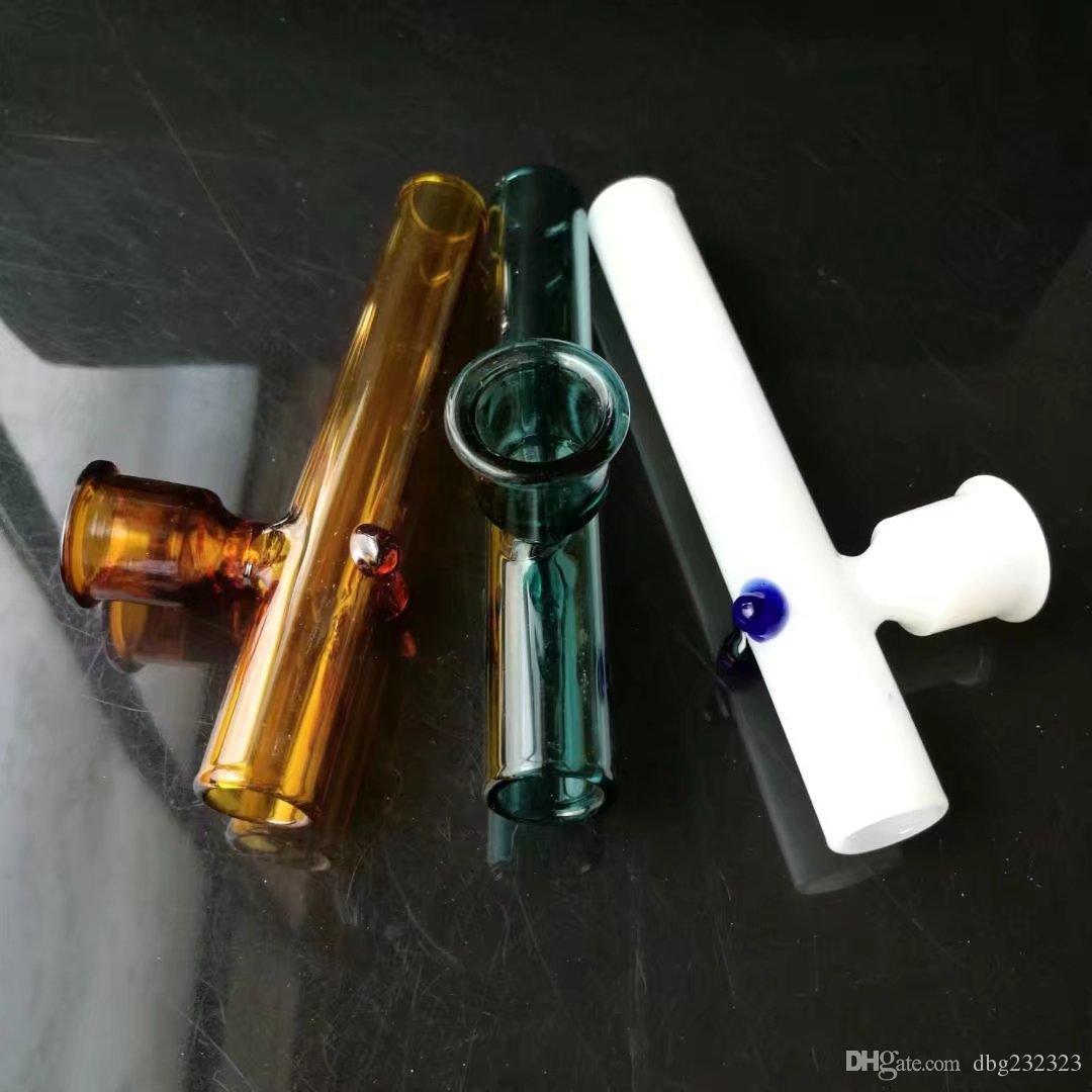 Accessoires de bongs en verre de cheminée de couleur entonnoir, pipes en verre colorées mini multi-couleurs Hand Pipes Best Spoon glas