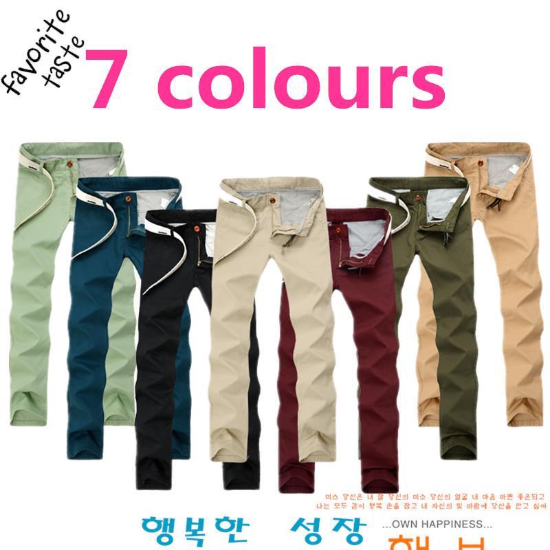 d7d000c71eec4 Compre Al Por Mayor Talla Grande Para Hombre Slim Straight Pantalones Chinos  Oscuro Wash Jeans Mens Slim Chinos Pantalones Casuales Negro