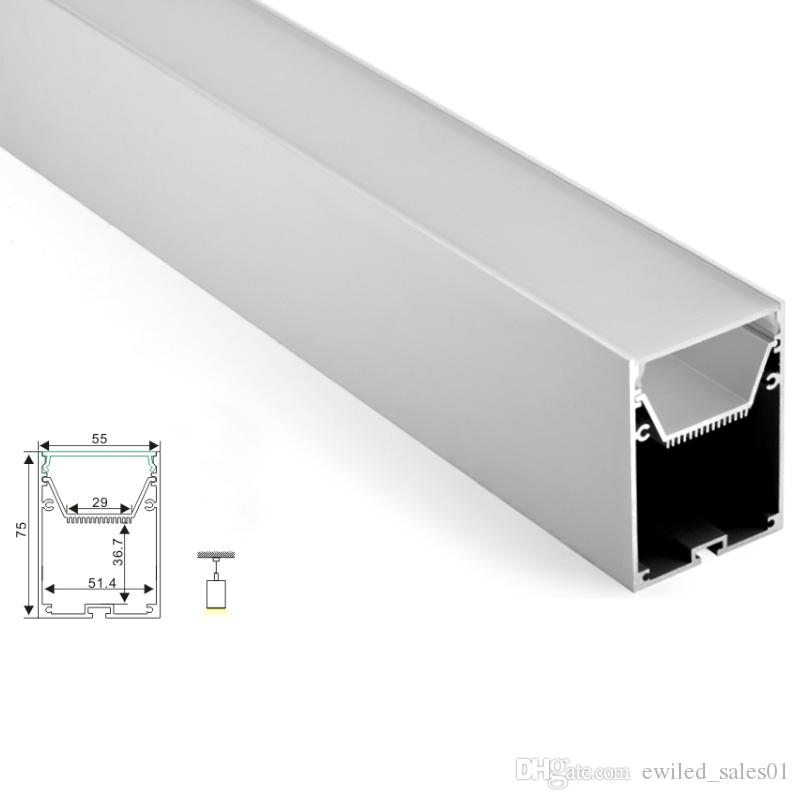 100 X 1M setsOffice lighting aluminum profile for led and Al6063 led channel profile with power storage for suspension pendant lamps