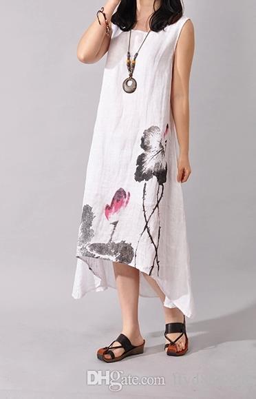 Summer linen dresses plus size