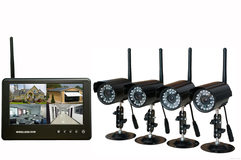 Compre digital wireless monitor lcd sistema de seguridad dvr