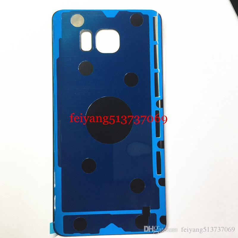 10 adet OEM Samsung Galaxy not 5 için bir kalite n920a n920t n920v n920f arka kapak cam Pil Kapı Konut + Yapıştırıcı 100% önce test