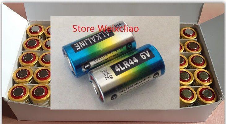 50 unids 1 lote 4LR44 476A 4A76 A544 V4034PX PX28A L1325 6 V batería alcalina seca 6 Voltios Baterías Envío Gratis