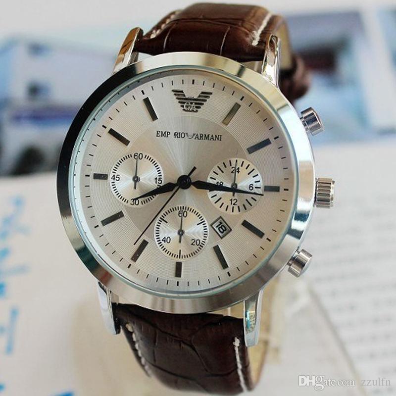 68034af9f537 Compre Relojes Para Hombre De Primeras Marcas De Lujo Reloj Militar Hombre  Cuero Casual Reloj De Pulsera Marca Famosa Reloj De Cuarzo Reloj Masculino  ...