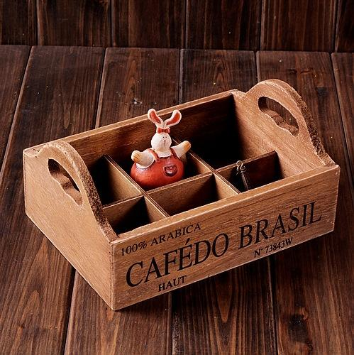 2018 Vintage Home Decor Zakka Home Decoration Vintage Style Solid Wooden  Storage Trays Box Makeup Organizer 21.5*15.5*10.5 From Tiankonghalei, ...