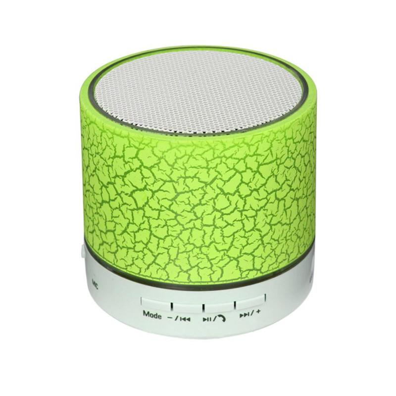 LED Crackle Bluetooth Speaker Mini Wireless Stereo Bluetooth Speaker Support TF Card, USB, FM Radio With MIC With Retail Box