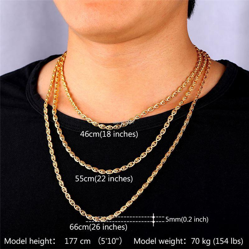 Wholesale gold color jewelry necklace chain wholesale trendy 55 cm wholesale gold color jewelry necklace chain wholesale trendy 55 cm beads necklace women men jewelry n391 silver chain silver jewellery from top7 mozeypictures Gallery