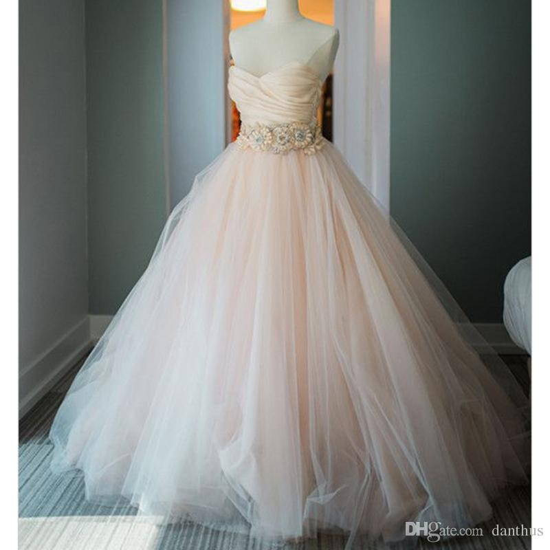 Sweetheart Ball Gown Wedding Dresses Princess Poofy Bridal Gowns ...