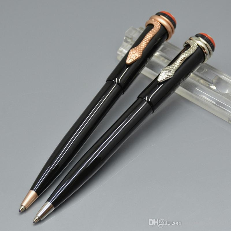 Limited edition 110th anniversary Inheritance series black metal Roller ball pen wiht Luxury snake clip MB brand writing gift ballpoint pens