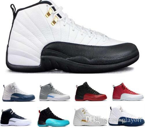 774be1297cd Cheap 12 XII Basketball Shoes Flu Game GS Barons Wolf Grey Gym Red Taxi  Playoffs Gamma French Blue Sneaker Baseball Shoes Basketball Shoes For Men  From ...