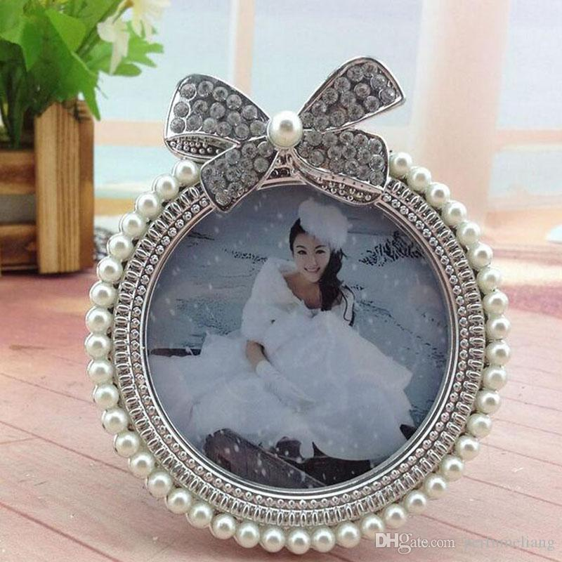 3inch Pearl Resin Photo Frame Diamond Pearl Decoration Girl Picture ...