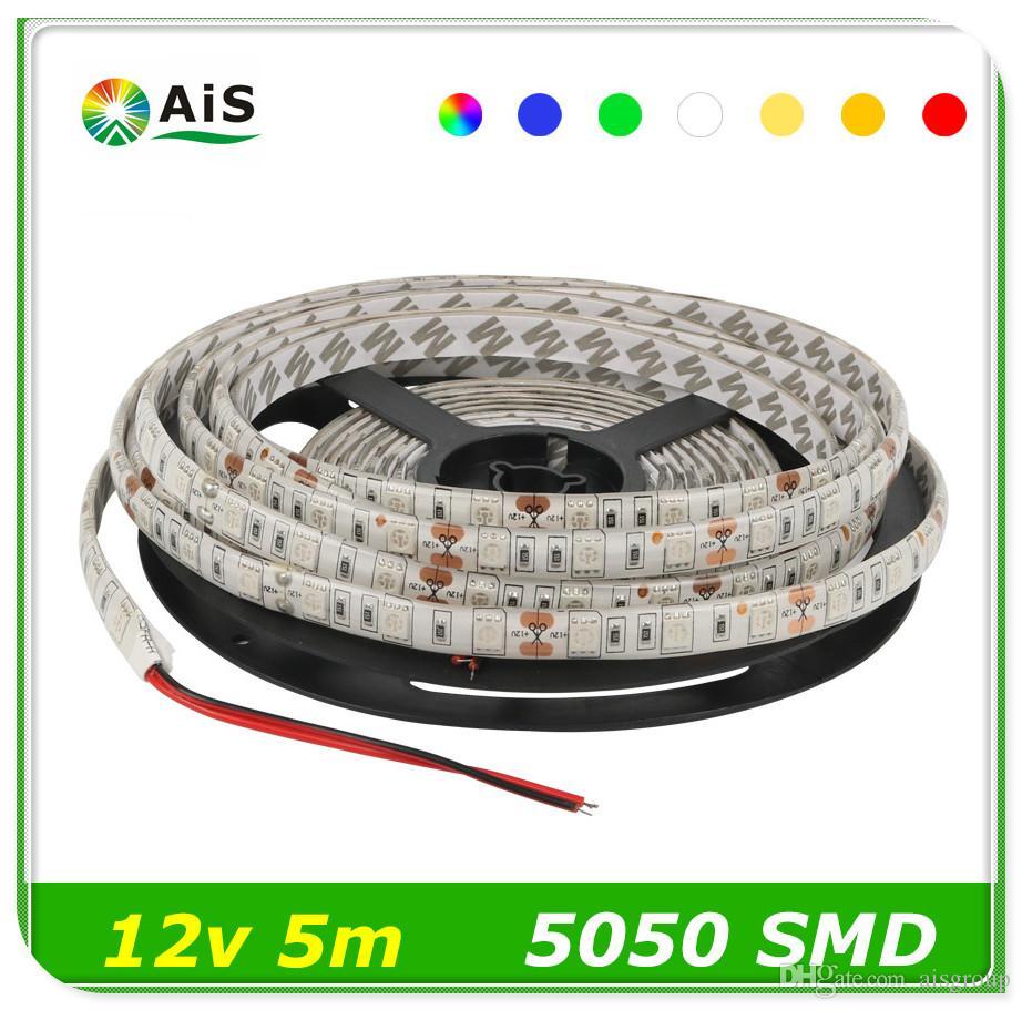 Led Strip 5050 Fiexible High Bright Light 60leds/M 5m 300leds Dc 12v ...
