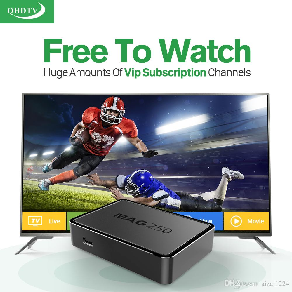 Mag 250 IPTV box with Qhdtv IPTV Account 1100+ Channels Arabic French Algeria Islamic Full Live Sports IPTV Mag250 Europe