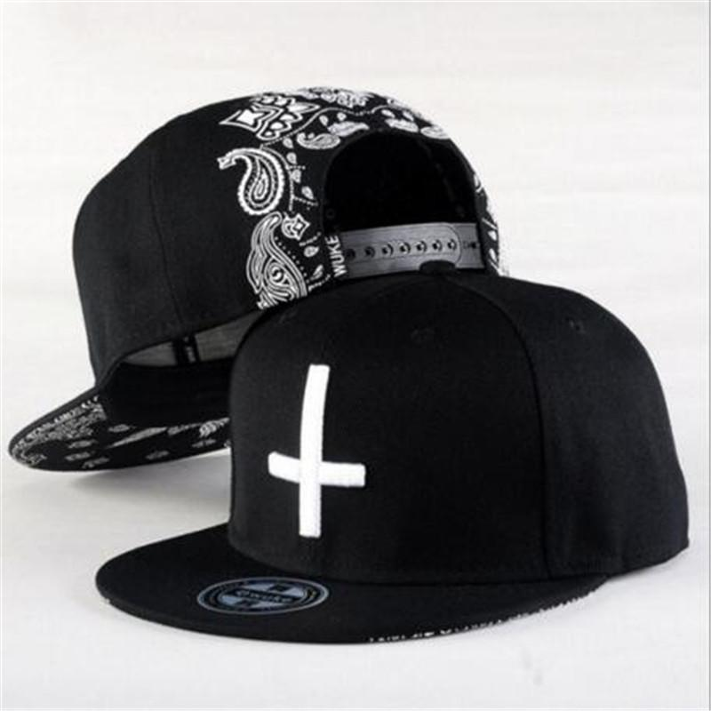 Hiphop Dance Embroidered Cross Snapback Fitted Caps Baseball Cap Men Solid  Flat Bill Korean Fashion Ball Hat Cap Hat Flat Caps For Men From Netecool bb9d96353f66