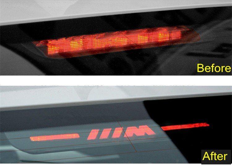 Brake Light Sticker High Mount Stop Lamp Stickers For BMW M Logo E46 E90 E91 E92 E93 F30 F31 F35 F80 F10 F01 F02 F03 F04 3 5 7 Series