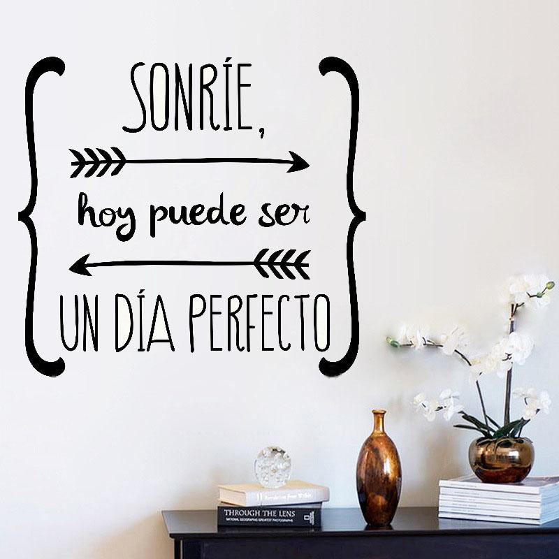 Wall Stickers Spanish Quote Vinyl Walls Decals Poster Art