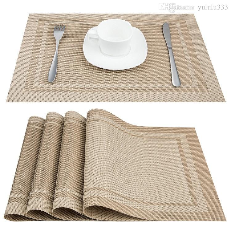 2018 Stripe Placemats Set Of 4 Pvc Placemat For Table Mat