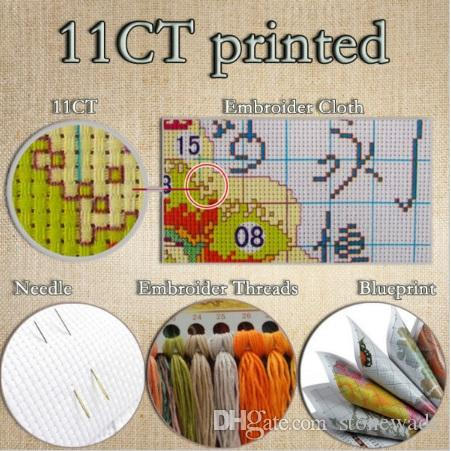 Thanksgiving Day turkey, DIY decor paintings counted printed on fabric DMC 11CT 14CT kits, Handmade Cross Stitch embroidery needlework Sets