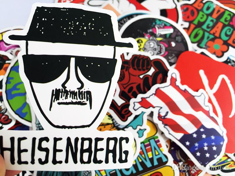 Best quality matt car sticker colorful skateboard graffiti decal laptop bicycle motorcyle car stying diy cool stickers car decal sticker online with