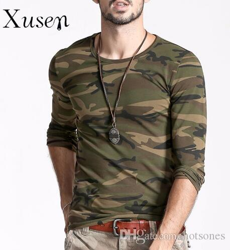 T Shirt 2017 New Men Printed Camouflage Autumn Fashion Man Camo ...