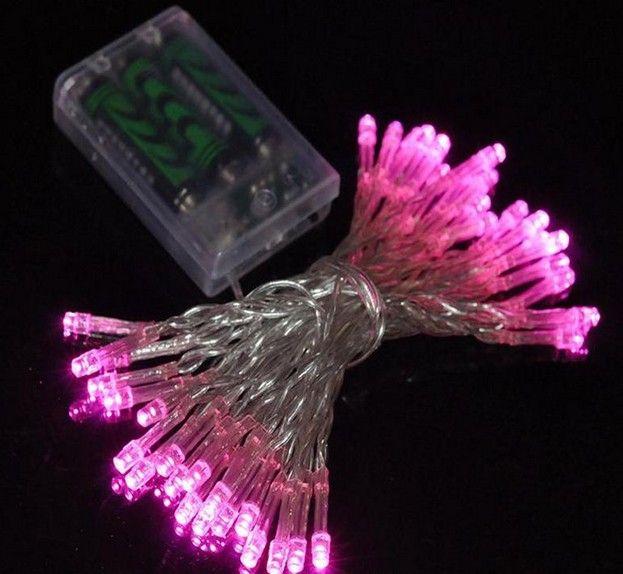 LEDの弦の光2M 3M 4M 5M 10M 3×ABATTERY操作文字列ライトの装飾クリスマスパーティーの結婚式送料無料