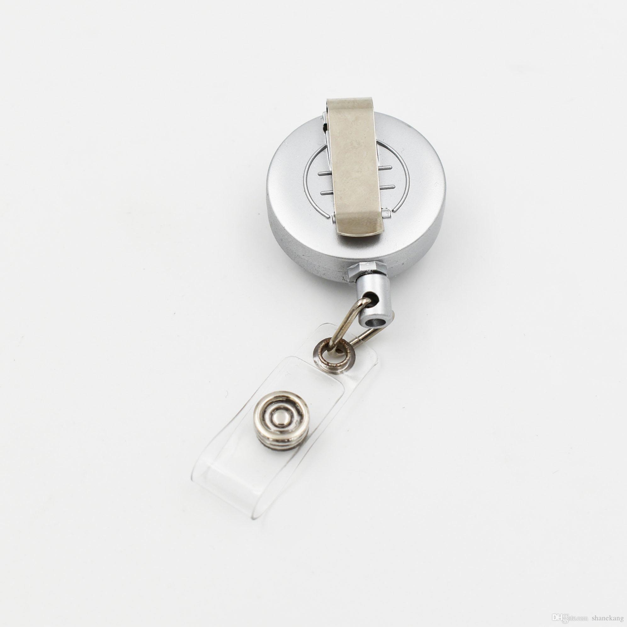 3 Arten Druckknopf Schmuck Zubehör Metall Versenkbare Abzeichen Reel Key ID Karte Clip Ring Lanyard Namensschild Kartenhalter Fit 18 MM Snap Charme