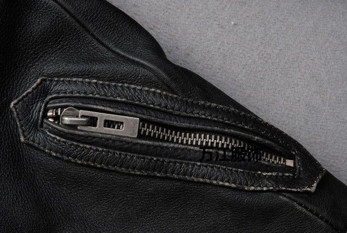 Schotts Vintage Man chaqueta de cuero de la motocicleta de cuero genuino de los hombres delgados abrigos cortos pie collar más 6XL