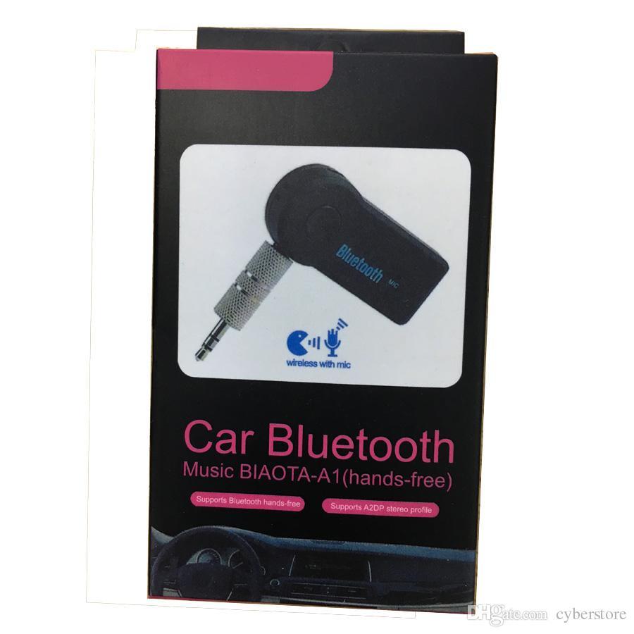 استقبال بلوتوث اللاسلكية لسيارة AUX أذن رئيس المجلس 3.5MM محول بلوتوث الصوت الموسيقى جاك مع هيئة التصنيع العسكري مع حزمة البيع بالتجزئة