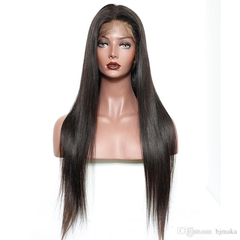 Straight 360 Lace Frontal Wigs For Black Women Pre Plucked 180% Density  Honey Queen Peruvian Remy Hair 100% Human Hair Wigs Malaysian Remy Full Lace  Wigs ... f6f1d7567
