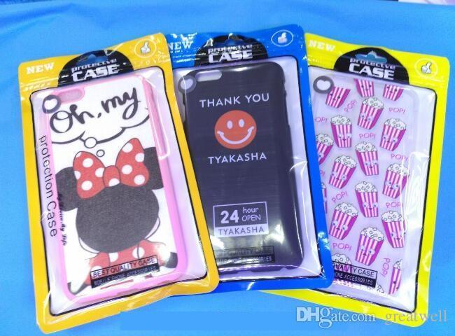 Nuevas cajas de paquete de venta al por menor de cerraduras Zip universales OPP PP bolsas de polietileno para iPhone 6 Plus funda de teléfono Samsung Galaxy S7 funda de cuero