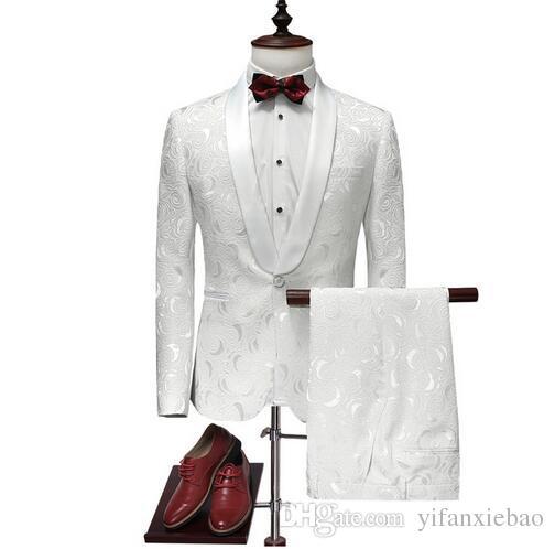 2017 2017 Latest Coat Pant Designs Suit Men White Wedding Tuxedos ...