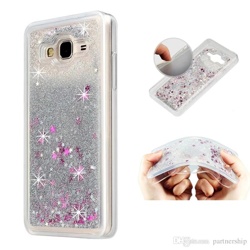 uk availability 3461d 62098 For Samsung Galaxy J2 J5 J7 Prime Case Glitter Liquid Star Quicksand Case  For Samsung on5 on7 2016 J3 2017 J3 emerge J1 ACE Soft TPU Cover