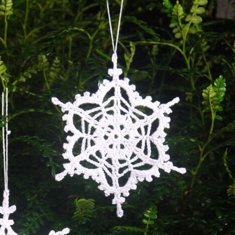 Decorazioni Natalizie Fiocchi Di Neve.Acquista Set Di 12 Fiocchi Di Neve Bianchi Fatti A Mano All