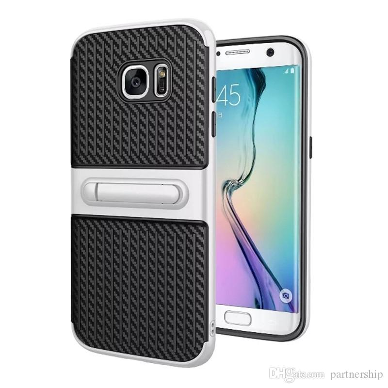 Heavy Duty Hybrid Armor Case For iPhone 6 6s 7 Plus 5 5s SE Case Cover Shockproof Rugged Rubber Hard Case For Samsung Galaxy S7 Edge Cover