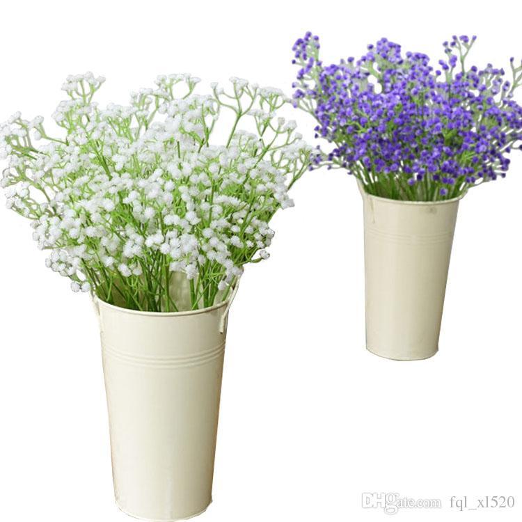 2019 White Gypsophila Artificial Flowers For Weddings Decoration