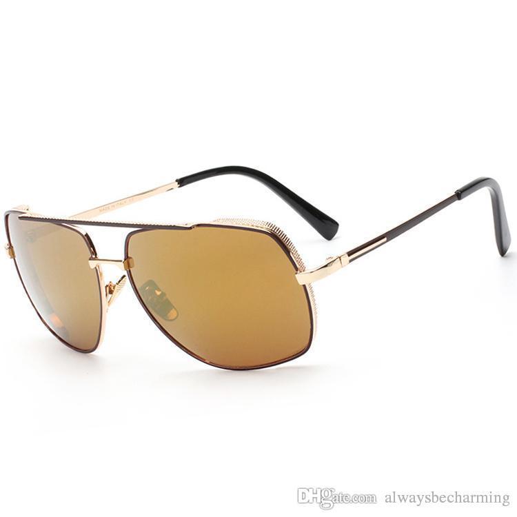 bcfc8e50ae High Quality Beach Metal Sunglasses Women Men Fashion Vintage ...