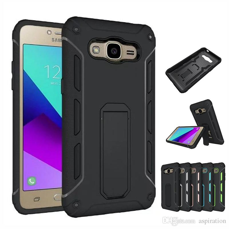 2b9a4352244 Hybrid Dual Layer Armor Protective Case Cover For Samsung Galaxy J2 Prime  Grand Prime Plus Heavy Duty Shockproof Tough Shell With Kickstand Cheap  Phone ...