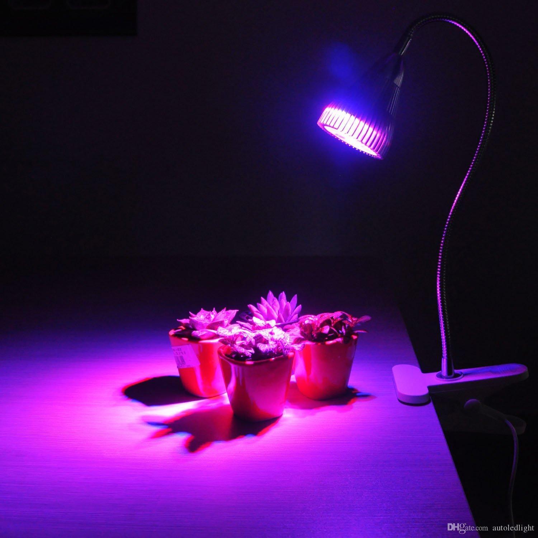 LEVOU Crescer Luzes para plantas de interior 7 W Mesa Crescer Lâmpada Espectro Completo com Grampo de Mola e Braço de Ganso para Indoor Planta Hidropônica