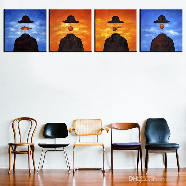 famous paintings by rene magritte wall paintings for home decor idea oil painting art print on canvas No Framed !