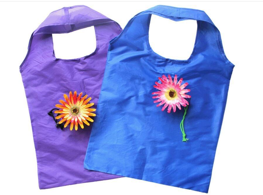 rose solar flower shopping bag creative environmental bag folding tote bag