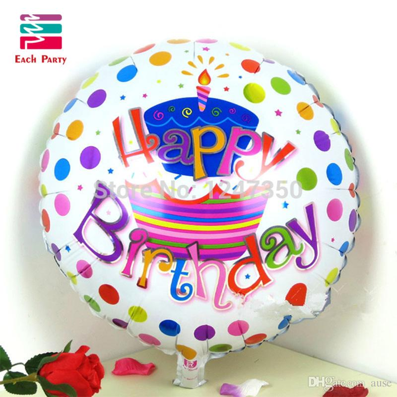 18 Inch Happy Birthday Cake Foil Balloons Children Decoration Globos Party Supplies Air Bloons Delivery