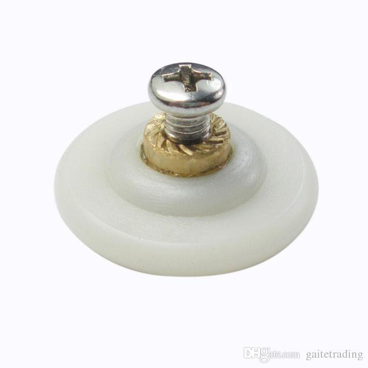 28 ملليمتر النايلون غرفة الاستحمام بكرة الزجاج انزلاق الباب بكرة شنقا جولة عجلة الأجهزة المنزلية جزء الأثاث