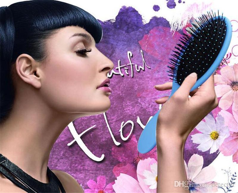 Heiße nasse trockene Haarbürste Ursprüngliche Detangler-Haarbürste-Massage-Kamm mit Airbags kämmt für nasse Haar-Duschbürste frei DHL